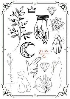 Flash Tattoos, Tattoo Flash Art, Ozzy Tattoo, I Tattoo, Tattoo Ideas, Tattoo Designs, Hand Poke, Small Things, Outlines