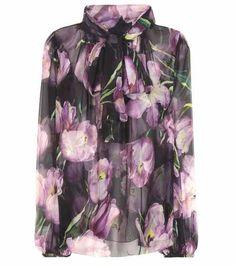 Printed silk blouse | Dolce & Gabbana