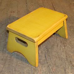 Primitive Child's Stool Stool 10 Color Choices by WillowIslandPrim