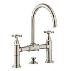 Hansgrohe Montreux Brushed Nickel 2-Handle Widespread Watersense Bathroom Faucet (Drain Included) 16510821