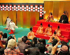 "Doll Display and Court Dance  ""Hiina"" Festival at Ichihime Shrine"