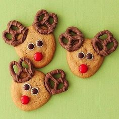 Nothing says Christmas like the smell of freshly baked cookies! We've searched the web for the cutest (and yummiest) Christmas cookies to give you some inspiration for your holiday-baked goodies. 1.Rudolf Pretzel Cookies These bright eyed guys are easy to make. All you need is a roll of store bought cookie dough, pretzels (choco-covered is [...]