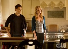 """The Vampire Diaries -- """"Stand by Me"""" -- Pictured (L-R): Paul Wesley as Stefan and Candice Accola as Caroline -- Image Number: VD415b_0283.jpg -- Photo: Bob Mahoney/The CW -- © 2013 The CW Network, LLC. All rights reserved."""