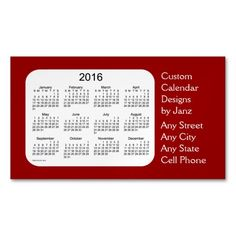 2018 holiday cyan calendar by janz business card pin your work 2016 maroon business calendar by janz magnet magnetic business cards pack of 25 colourmoves