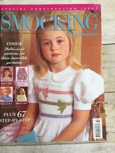Australian Smocking & Embroidery Magazine Issue No 48 1999 Patterns Intact