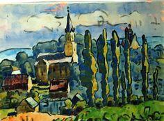 Ernst Ludwig Kirchner (1880 - 1938) In 1912 verhuisde de kunstenaar naar Berlijn, waar hij vriendschap sloot met Lyonel Feininger en deelnam aan de tentoonstelling 'Sonderbund' in Keulen. In 1913 werd Die Brücke ontbonden.