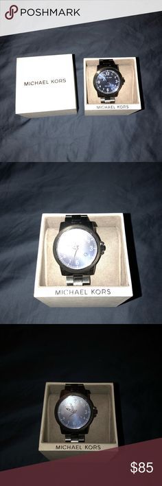 Men's Michael Kors Hand Watch slate grey michael kors watch with a navy blue metallic face. Never used, from Nordstrom Rack. Michael Kors Accessories Watches