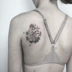 brain/heart #tattoo #tattoos #tattoogirl #braintattoo #hearttattoo #flowertattoo #flowerstattoo
