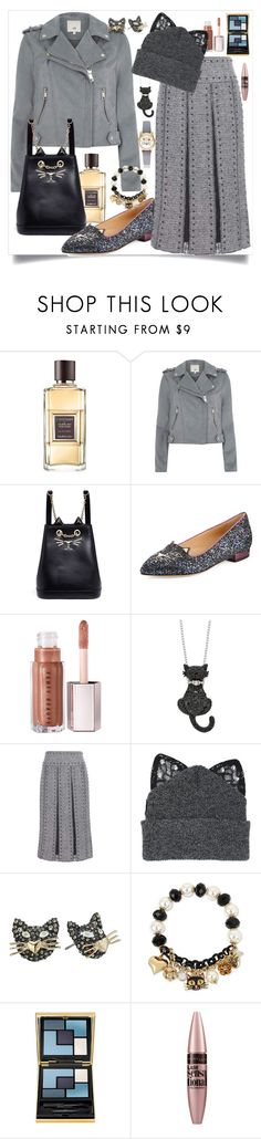"""""""Kitty"""" by st-edmundcollege ❤ liked on Polyvore featuring Guerlain, River Island, Charlotte Olympia, Valentino, Silver Spoon Attire, Betsey Johnson, Yves Saint Laurent, Maybelline and Geneva"""