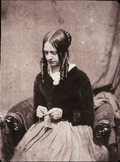 Antoine Francois Jean Claudet, Woman, 1844, salted paper print from a calotype negative.