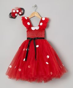 Take a look at this Red Mouse Tutu Dress & Bow Clip - Infant, Toddler & Girls on zulily today!