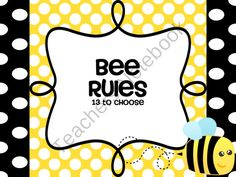 Hui Chan Hui Chan-David Jackson In this packet you will find posters for the popular classroom rules using the BEE theme. Classroom Rules, Classroom Design, Kindergarten Classroom, Classroom Themes, Classroom Displays, Bee Safe, School Themes, School Ideas, Bee Party