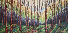 """Jennifer Woodburn, Follow Me, 24"""" x 48"""", acrylic on canvas"""