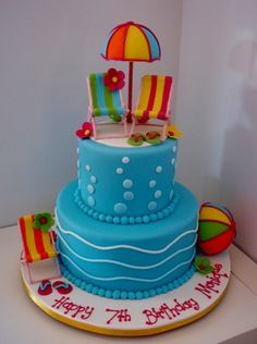 mickey mouse pool party cake - Google Search