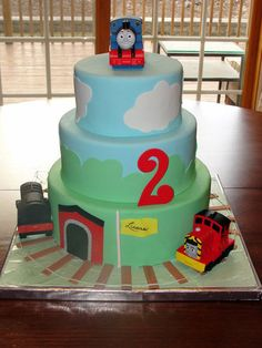 This would be cool for Kari's next birthday cake! He loves Thomas the train!