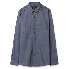 Topten10 Unisex Oxford Buttondown Modern Gray Solid Formal Cotton Dress Shirts #Topten10