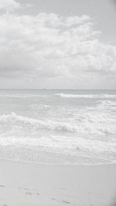 White waves.