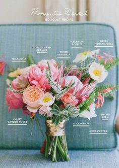 Romantic desert bouquet recipe | Pink bridal bouquet | 100 Layer Cake