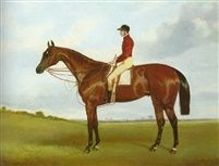 Mrs S Wrathers Nutwith with J Marson up winner of the St Leger 1843 by Harry Hall