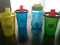 Monogram Sippy Cups.