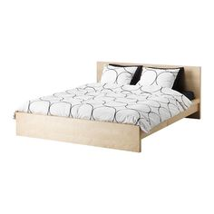MALM Bed frame with slatted bed base - birch veneer, 140x200 cm - IKEA