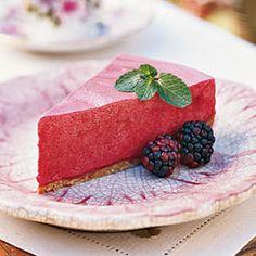 Frozen Blackberry-Lemon Chiffon Pie   CookingLight.com