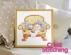 Cute Mimi kitten cross stitch design, via Flickr. The World of Cross Stitching, issue 193