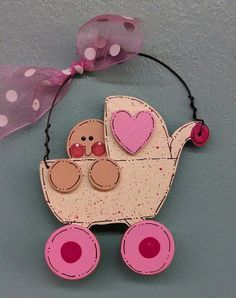 Baby Girl Buggy Ornament