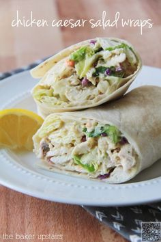 2. #Chicken Caesar #Salad Wraps - It's a #Wrap: 28 Wrapped #Sandwiches to Make Lunch #Exciting Again ... → Food #Cherry