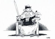 """OÖN-Karikatur vom 20. Juli 2017: """"Polnisches Duo"""" Mehr Bilder auf: http://www.nachrichten.at/nachrichten/karikatur/ (Bild: Mayerhofer)"""