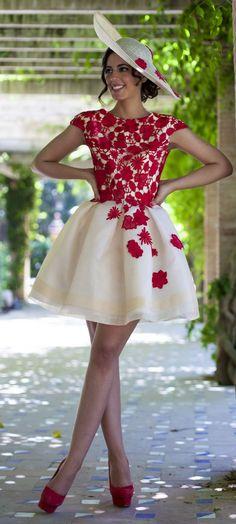 Silvia Navarro White And Red Prom Styling by 1sillaparamibolso