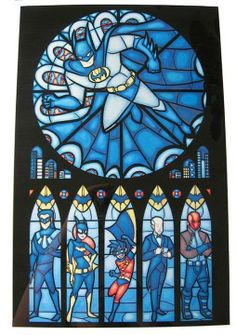 Stained Glass Bat-family