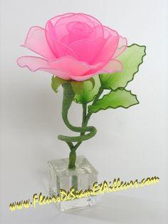 Soliflore avec Rose rose