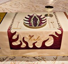 The Dinner Party Place Setting: Kali by Judy Chicago (Brooklyn Museum: Elizabeth A. Sackler Center for Feminist Art)