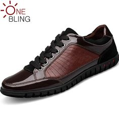 New 2016 Fashion Leather Patchwork Men Shoes Lace-up Breathable Waterproof Flat Shoes Rubber Non-Slip Leisure Shoes Large Size