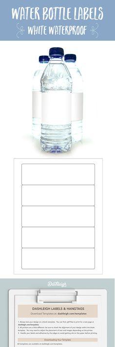 Free Blank Water Bottle Label Template Download Wl Template