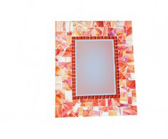 SALE  Orange Stained Glass Mosaic Wall by GreenStreetMosaics, $35.00