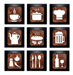 Kit 3 Quadros Decorativos para cozinha MDF no Craft Stick Crafts, Wood Crafts, My Coffee Shop, Coffee Shop Signs, Kitchen Canvas, Laser Cutter Projects, Diy Kitchen Decor, Home Decor, Kitchen Cabinet Styles