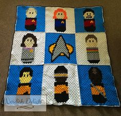 Yes, at long last, I've finished it. I started making it in June last year, but I actually created it before I made my Outlander blanket, so this has been a long time in coming. Last year was…