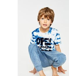 Image 1 of Tie-dye printed T-shirt from Zara