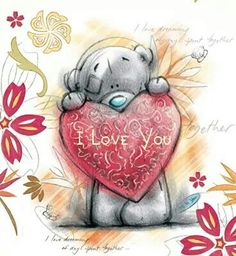 Florynda del Sol ღ☀¨✿ ¸.ღ ♥Bears illustrations♥ Anche gli Orsetti hanno un'anima…♥ Tatty Teddy, Teddy Bear Pictures, Blue Nose Friends, Bear Valentines, Love Bear, Cute Teddy Bears, Clipart, Vintage Christmas, Cute Pictures