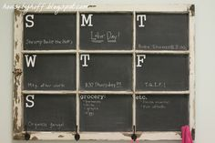 Chalkboard Window Calendar - House by Hoff