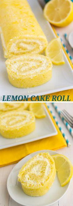 LEMON CAKE ROLL - FullyRecipes.com