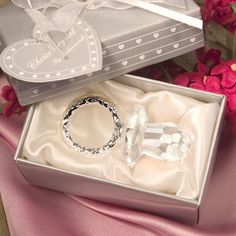 Crystal Dummy Christening Favour