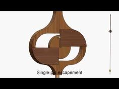 Single-Pin Escapement - Charles Macdowall, patented in 1851 - YouTube