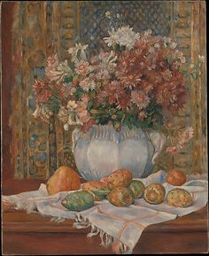 Auguste Renoir (French, 1841–1919), Still Life with Flowers and Prickly Pears, ca. 1885, The Metropolitan Museum of Art