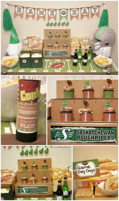 Football Party Ideas - includes ideas for football party food, football printables, and more for a game day party!