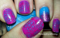 Pinkies for a Penny: Zoya + Bundle Monster Stamping