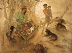 Rojak seller sold by Christie's, Hong Kong, on Sunday, November 2005 Southeast Asian Arts, Indonesian Art, Dutch East Indies, Naive Art, Guangzhou, Vintage Art, Hong Kong, Design Art, Culture