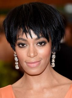 Very Short Hairstyles - Shiny Bowl Cut Hair with Wispy Ends